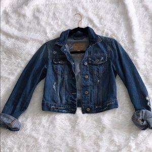 Hollister crop denim jacket